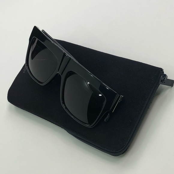47a3930b58d Celine Accessories - Celine Flat Top ZZ 41756 Black Sunglasses